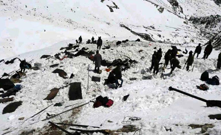 समुना-2 पोस्ट के ताजा पास बर्फ के एवलांच से 10 लोगों की मौत एवं 8 लापता, राहत एवं बचाव कार्य जारी