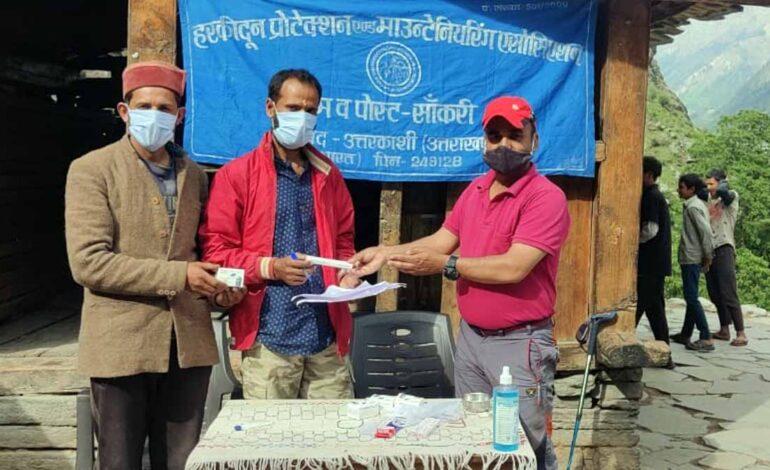 लोगों को कोरोना संक्रमण से बचाव हेतु संस्था ने किया जागरूक