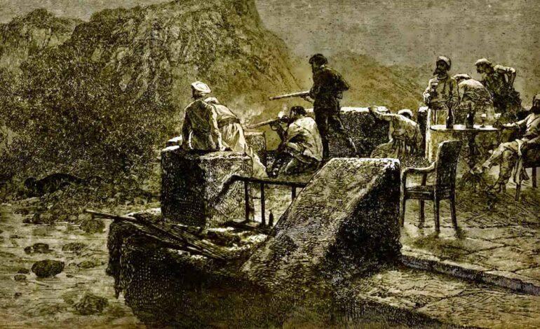 पहाड़ों में शिकार पर फ़िरंगी राजकुमार: 1876